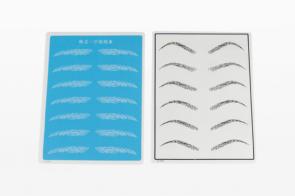 size of eyebrow practice pad
