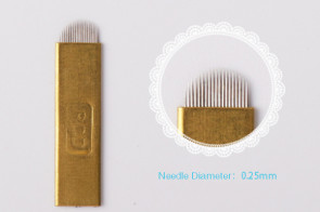 Hard Wrapped 1p Pin U Shaped Microblading Needle