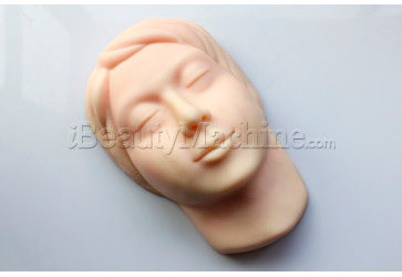 3D Microblading Practice Mannequin Head with Simulated Skull Inside