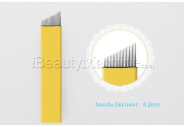 angled 21 pin microblading needle