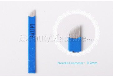 Flexible 12 Pin Curved Microblade