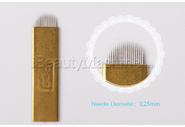 Hard Wrapped 1p Pin U Shaped Microblading Needle