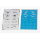 3 in 1 Microblading Eyebrow Practice Pads | Eyebrow Eyeliner and Lips Practice Paper | Odor Free | Soft  Material | Easy Dyeing