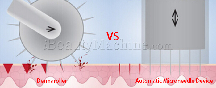 Auto Stamp, Medical skin needling, dermapen vs dermaroller, automatic derma roller