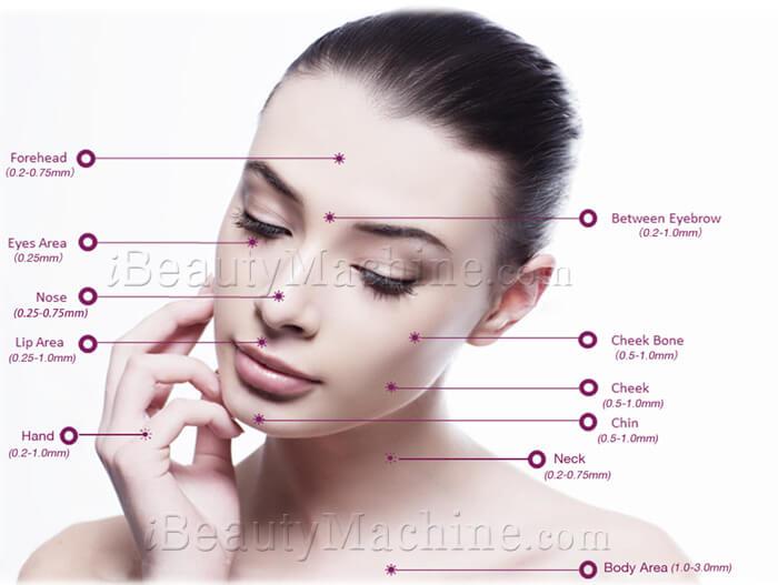 dermaroller needle depth, derma roller 1.0mm,