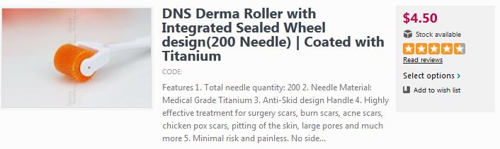DNS Titanium Derma Roller