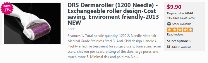 High quality Derma Roller for stretch mark removal