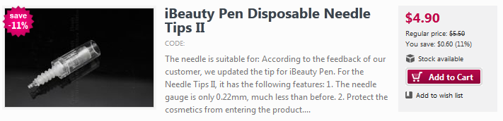 ibeautypen disposable needle