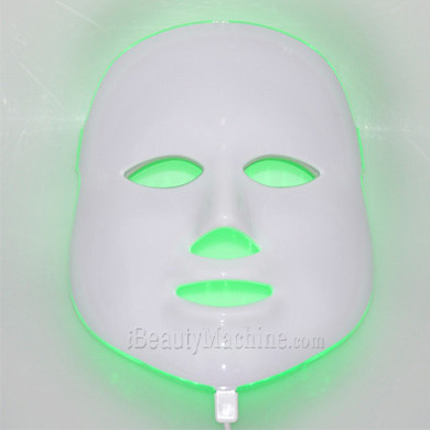 green light skin claming LED facial treatment