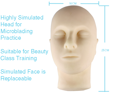 semi-permanent make-up training mannequin head