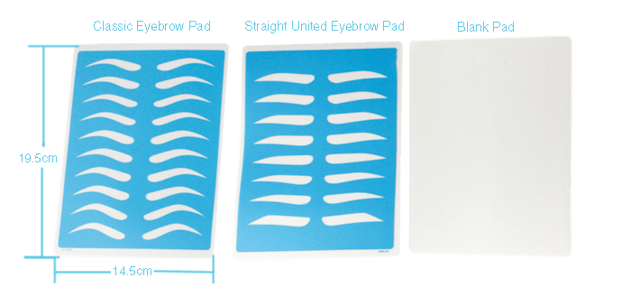 size of Eyebrow shape Practice pad