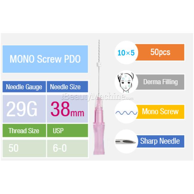 InstaLift™ Mono Screw PDO Thread Lifting | 29Gx38mmx50mm | Spring PDO  lifting | Twisted PDO | Absorbable PDO | E O  Sterilization| Non-Toxic |
